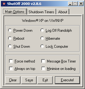 ShutOff 2000 - Screen 1